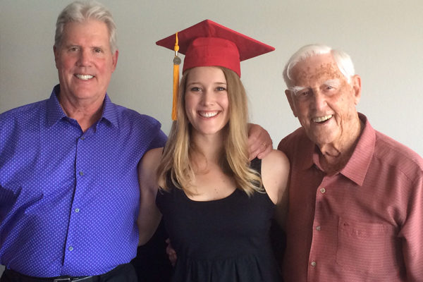 graduate with dad and grandfather